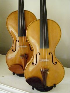 Two cornerless violins